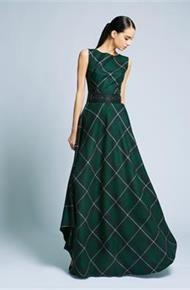 длинное платье в клетку