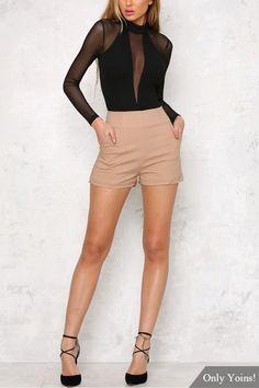 Sexy See-through Long Sleeves Bodysuit - US$11.95 -YOINS