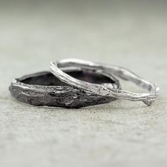 Branch Wedding Band Set, Sterling Silver
