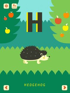 H - Hedgehog. Mini-U: Zoo Alphabet, PopAppFactory, updated 2017