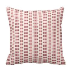 Pink patterned pillow.
