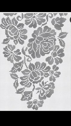 Crochet Table Topper, Crochet Tablecloth Pattern, Free Crochet Doily Patterns, Filet Crochet Charts, Crochet Curtains, Crochet Designs, Crochet Doilies, Crochet Flowers, Crochet Stitches
