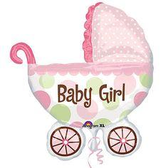 Baby Buggy Girl Mylar Balloon