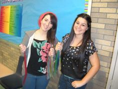 North High School seniors sell colored hair extensions to raise money for a different cause each month. They came up with a plan to sell colored hair extensions to correspond to a different charity each month. The group started in October, selling three shades of pink hair extensions to both raise money for Susan G. Komen for the Cure and promote breast cancer awareness. They sold the extensions to both male and female students, faculty, and staff.