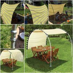 DIY Adjustable Sun Tracking Canopy-outdoor