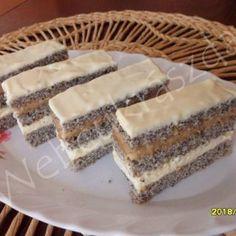 Tejfölös mézes Poppy Cake, Vanilla Cake, Tiramisu, Fondant, Cheesecake, Cooking Recipes, Ethnic Recipes, Food, Kuchen