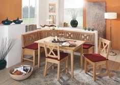 Eckbankgruppe Bodensee 136x178 Holz Buche Massiv Bezug Rot 20945. Buy now at https://www.moebel-wohnbar.de/eckbankgruppe-bodensee-136x178-holz-buche-massiv-bezug-rot-20945.html