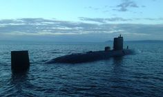 Royal Navy Trafalgar class nuclear submarine HMS Torbay, now entering her 25th year in service.