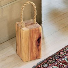 Recycled Wood Doorstop More