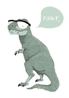 T-rex illustration by Anna Grape