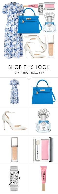 """""""Untitled #446"""" by ngkhhuynstyle ❤ liked on Polyvore featuring Somerset by Alice Temperley, Hermès, Jimmy Choo, Vince Camuto, Christian Dior, Clinique, Franck Muller and Too Faced Cosmetics"""