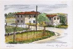 Mario Agostini - Paesaggio di campagna