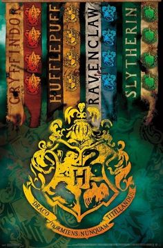$8.95 - Harry Potter - House Crests Poster - 22X34 - 15961 #ebay #Collectibles
