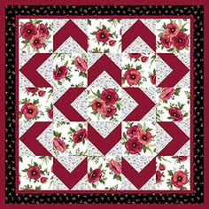 LOVE this pattern! Easy for beginners too! Walk About Quilt Pattern…