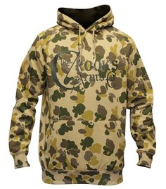 Crooks & Castles Arms Co Pullover Hoodie Tan Camo