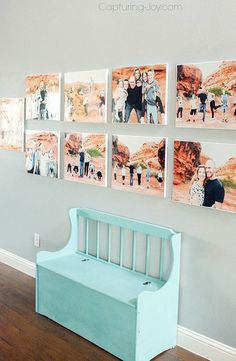 Turn any wall in your home into a gorgeous gallery wall with this easy DIY tutorial! Showcase all your family pictures for friends and family  to see!