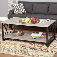 Simple Living Seneca XX Black/ Reclaimed Grey Cocktail Table - Overstock™ Shopping - Great Deals on Simple Living Coffee, Sofa & End Tables