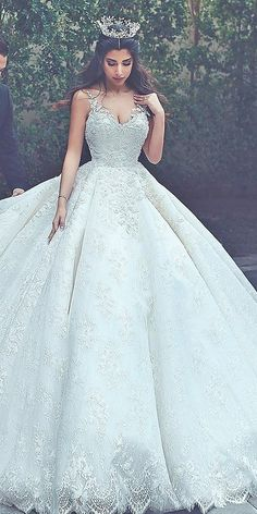 24 Top Wedding Dresses For Bride ❤ ball gown spaghetti straps full lace beaded said mhamad photograp Popular Wedding Dresses, Top Wedding Dresses, Wedding Dress Trends, Princess Wedding Dresses, Perfect Wedding Dress, Bridal Dresses, Wedding Gowns, Said Mhamad Photography, Wedding Dress Silhouette