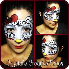 Hello Kitty sugar skull by Crystal's Creative Faces - Chicago Face Painting