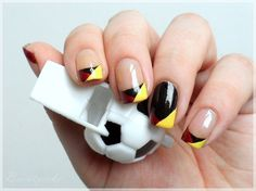 Nageldesign - SCHLAND WM Nägel | FIFA World Cup Germany nail art