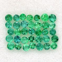 Loose Gemstone Lot 35 Ct//14 Pcs Green Tourmaline Natural Round Cut Certified