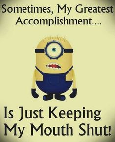 Funny minions images with funny quotes PM, Monday September 2015 PDT) – 10 pics humor, funny quotes Funny Minion Memes, Minions Quotes, Funny Jokes, Minion Humor, Minion Sayings, Funny Texts, Minions Images, Minions Love, Funny Picture Quotes