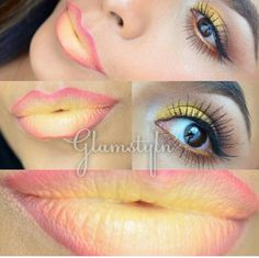 Lime Crime Lips.  New Yolk City This is the way to wear yellow lipstick and look great !
