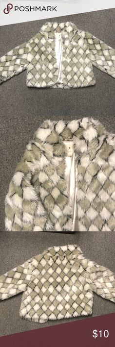 Cropped Fur Vest Funky cropped fur vest - great to pair with high waisted jeans, a skirt or a dress. Forever 21 Jackets & Coats