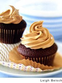 Chocolate-Mayonnaise Cupcakes with Caramel-Butterscotch Buttercream Frosting Recipe | Leites Culinaria