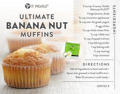 Bananas & Nuts + Ultimate ProFIT = #bettertogether It Works - That Crazy Wrap Biz   Get your ProFIT here www.CrazyWrapBiz.com