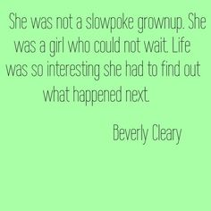 Beverly Cleary quote