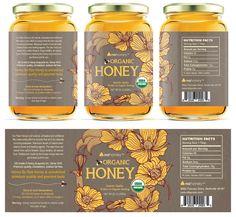 Packaging Design Organic Honey Labels Template Design Youth Sports Schedules: Alerts Keep Parents in Design Food, Jar Design, Bottle Design, Label Design, Honey Label, Honey Jar Labels, Honey Jars, Graphic Design Blog, Blog Design