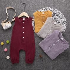Infant Casual Sleeveless Jumpsuit Newborn Clothes – DailyBestBuys