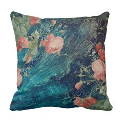 Eden Turquoise and Rose Statement Pillow