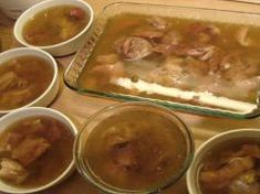 Kocsonya (Hungarian jellied pig's feet) This is one of the more fascinating dishes I remember watching my Hungarian born grandmother make when I was little. When the plates of finished pig's feet w… Hungarian Cuisine, Hungarian Recipes, Hungarian Food, Serbian Food, Hog Head Cheese Recipe, English Food, Polish Recipes, Pork Dishes, Hungary