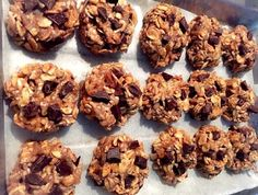 Bolachas de aveia e banana com chocolate - Powered by @ultimaterecipe