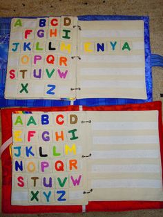 alphabet quiet book pages