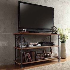 TRIBECCA HOME Industrial TV Stand | Overstock™ Shopping - Great Deals on Tribecca Home Media/Bookshelves