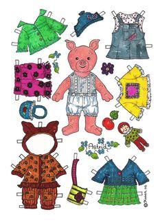 Pigs paper dolls 1