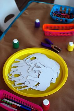 Kids' Craft Table painting, coloring, etc. elephants. {Peanut Big Top idea}