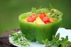 Stuffed Pepper with Tomato and Squash | Eatright Art