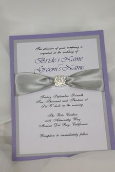Wedding Invitation Flat Pannel Wedding Invitation by AmiraDesign, $225.00, you could DYI your own