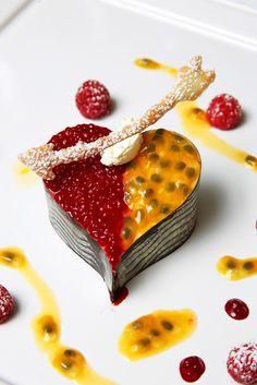 Special Valentine's dessert dish created by Langman's Restaurant of Callington