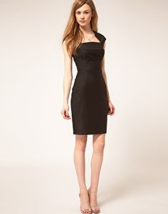 ted baker tailored dress with neck detail