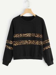 Shop Plus Leopard Panel Sweatshirt online. SHEIN offers Plus Leopard Panel Sweatshirt & more to fit your fashionable needs. Sweat Shirt, Grey Sweatshirt, Crew Neck Sweatshirt, Pullover, Sweatshirts Online, Printed Sweatshirts, Hoodies, Funny Sweatshirts, Sweaters And Jeans