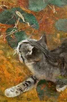 """Bruno Liljefors """"Cat"""" (1889) via 'windypolarsroom.tumblr'♥•♥•♥"""