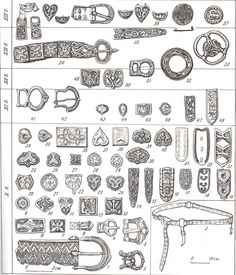 Jewelry of Novgorod (Website is in Russian). It is to be noted that Novgorod was once ruled by Grand-Princes of Kievan-Rus origin - they were NOT Russian! Medieval Belt, Medieval Jewelry, Medieval Clothing, Viking Jewelry, Ancient Jewelry, Medieval Crafts, Viking Reenactment, Early Middle Ages, Norse Vikings