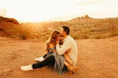 Arizona Desert Engagement Photos, Papago Park