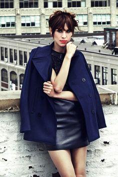 Alexa Chung wearing Saint Laurent