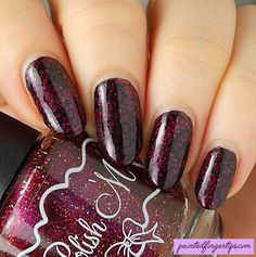 Review: Born Pretty Store Umbrella Stamping Plate - Painted Fingertips